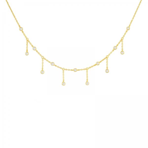 Diamanten Franje Choker - Goud