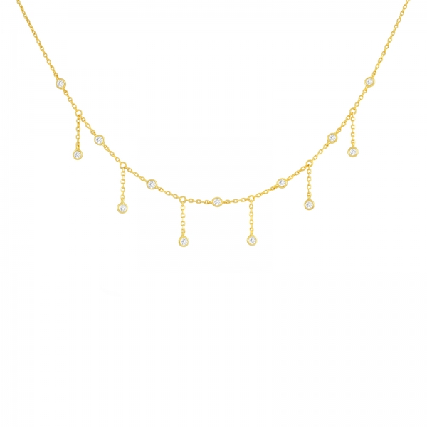 Jewel Fringe Choker - Gold