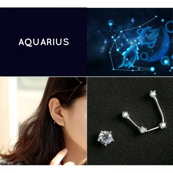 Zodiac Stud Earring Set - Aquarius