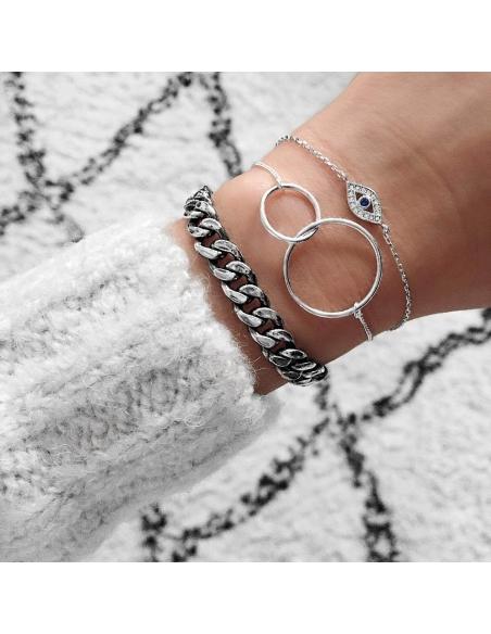 Dubbele ring-armband