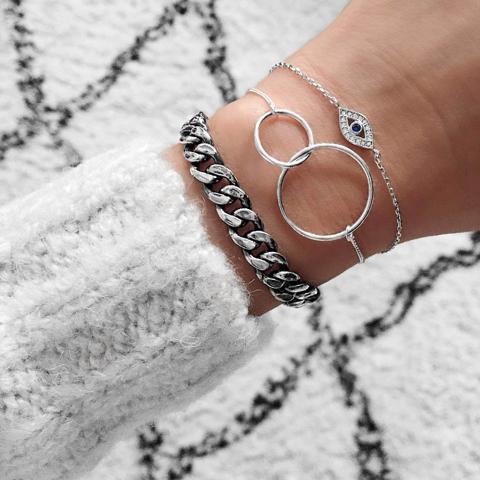 Delicate evil eye bracelet Super dainty evil eye bracelet Protection Greek evil eye charm bracelet Gold fill evil eye bracelet