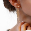 Constellation Fringe Earrings - gold