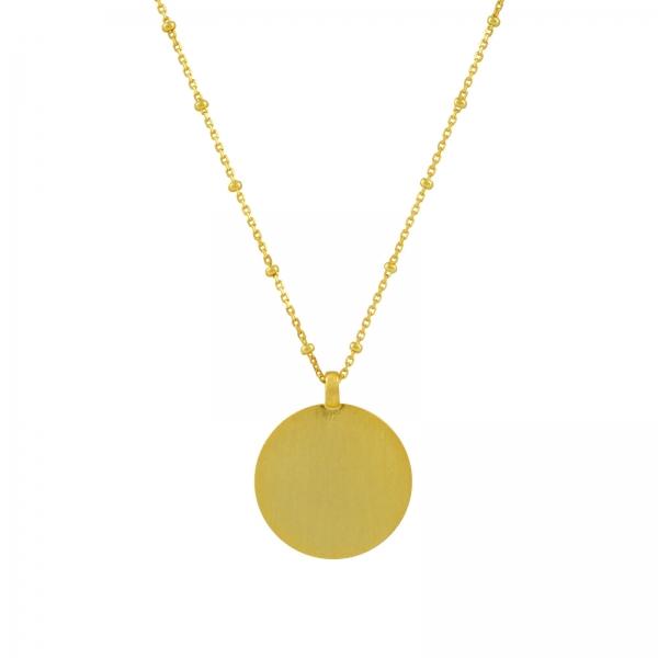 Disc Hanger Ketting - goud