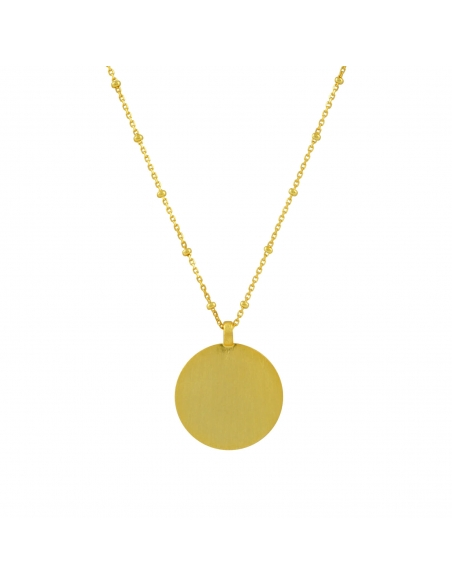 Disc Pendant Necklace - gold