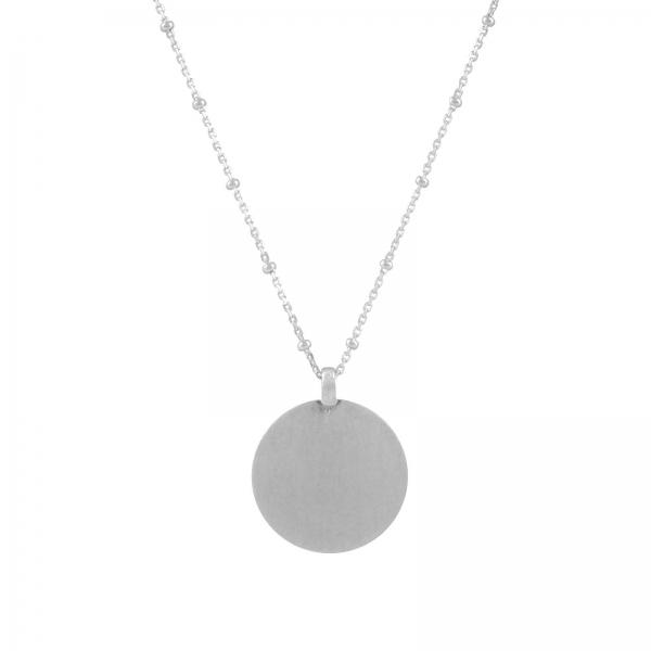 Disc Hanger Ketting - zilver
