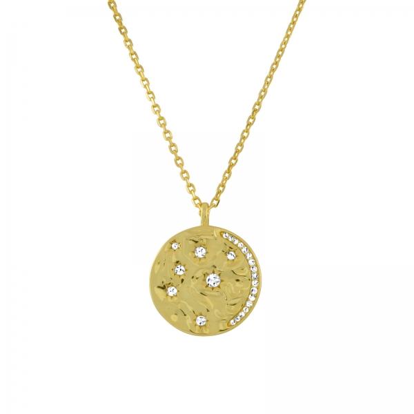 Celestial Disc Necklace - gold