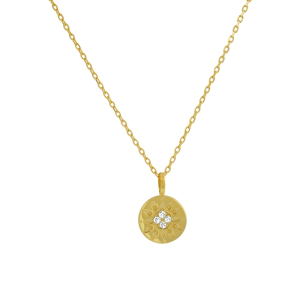 You Are My Sunshine Necklace - gold