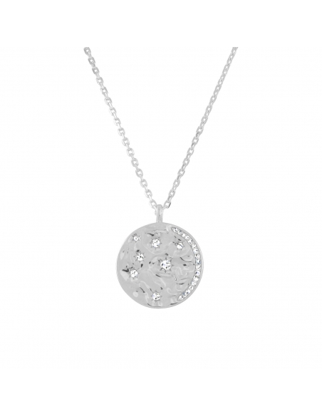 Celestial Disc Necklace - silver