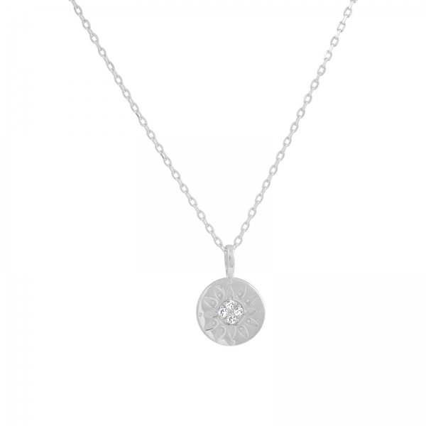 You Are My Sunshine Necklace - silver