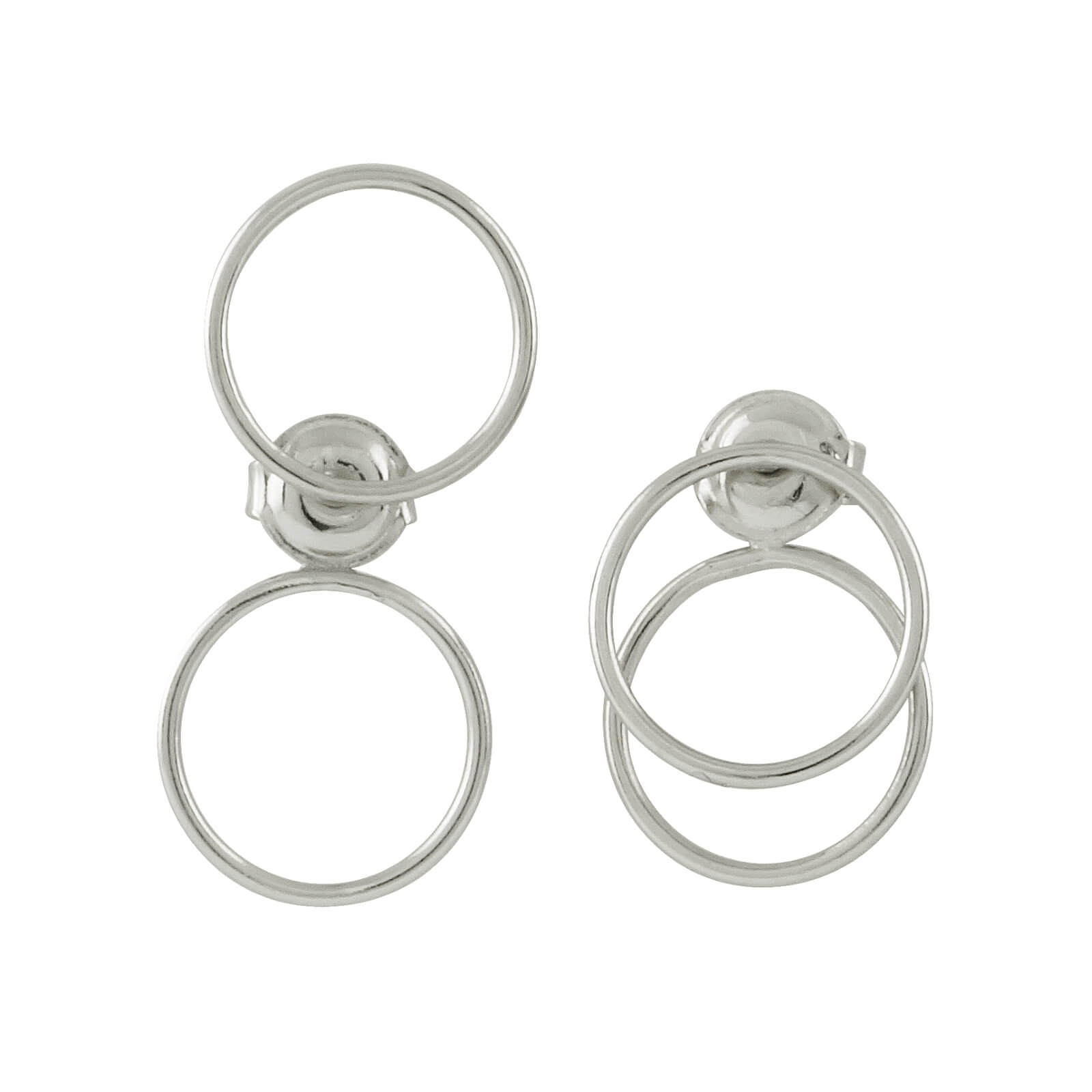 circle free hoop earrings silver kill dolls spirit triple
