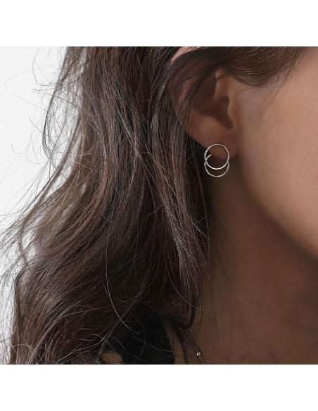 Front-back cirkel oorbellen