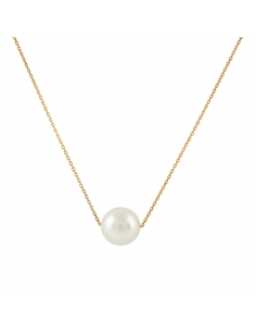 Floating Pearl Necklace - Rose Gold