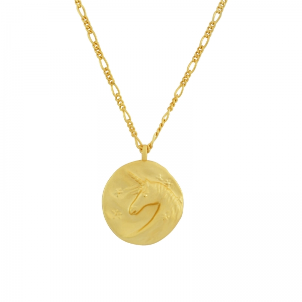 Unicorn Pendant Necklace - gold