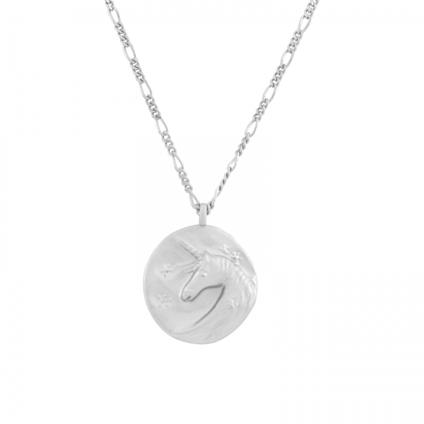 Unicorn Pendant Necklace - silver