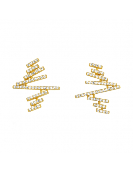 Zigzag Plank Earrings - gold