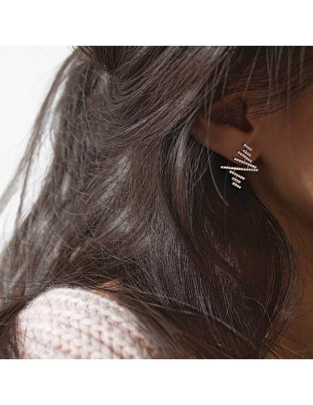 Gezigzagde plank oorbellen
