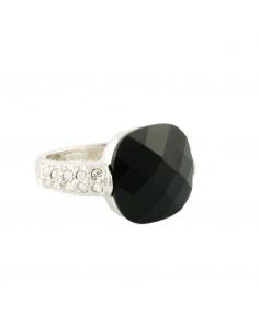 Cushion Black Ring