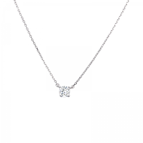 Crystal Element Sterling Silver Necklace