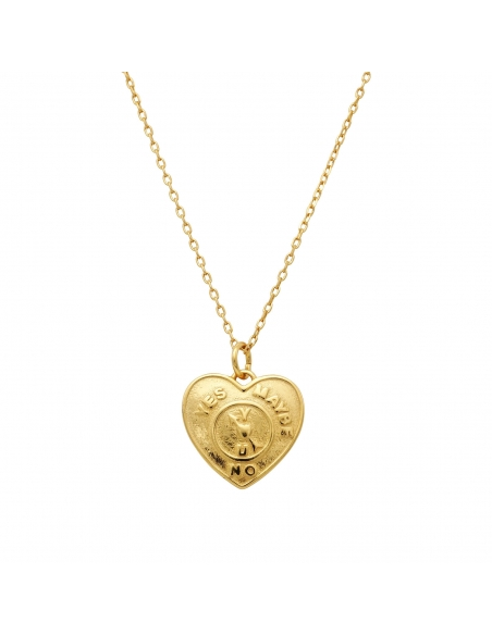 Yes Heart Pendant Necklace