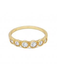 Twisted-bezel Ring