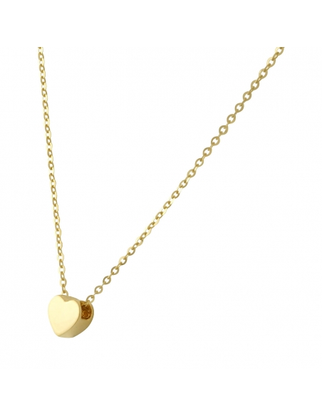14K Solid Gold Sweet Heart Necklace