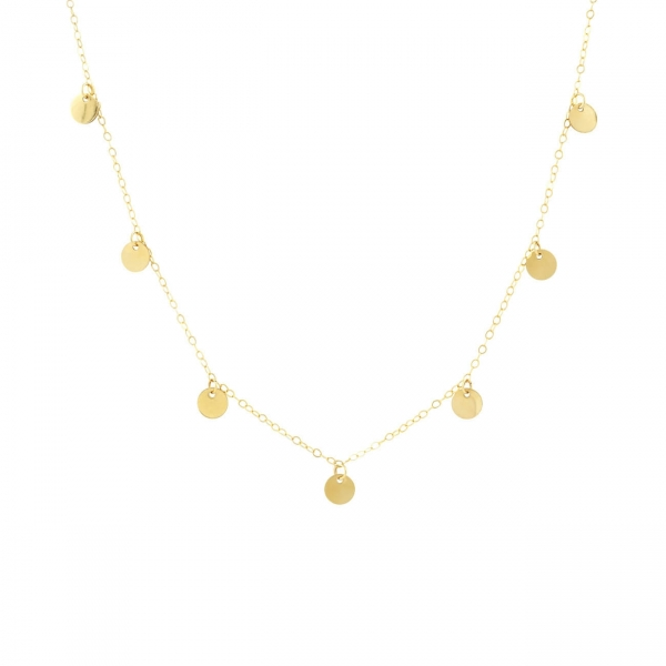 Gold Discs Necklace