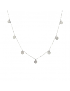 925 Sterling Silver Discs Necklace