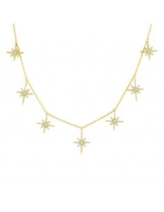 18K gold vermeil Stardust Choker-goud
