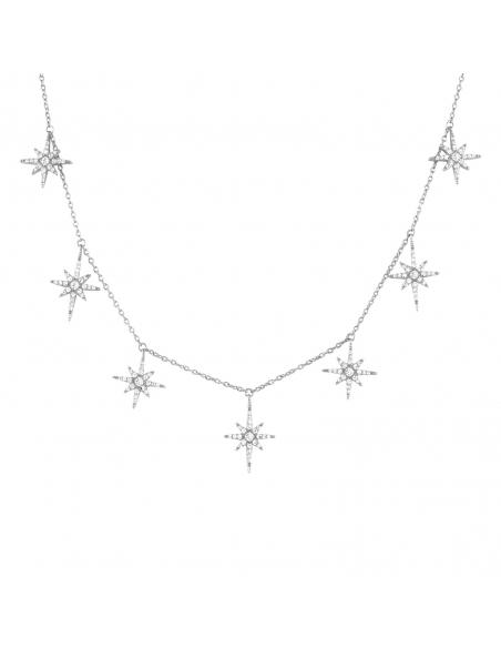 925 Sterling Silver Stardust Choker