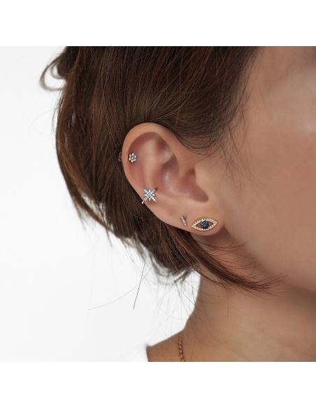 Sterling Zilveren Sterretje Ear Cuff