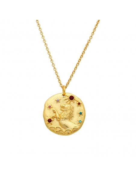 Zodiac Pendant Necklace - Leo