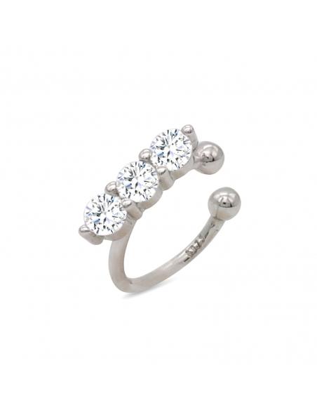 Ear cuff met juwelen