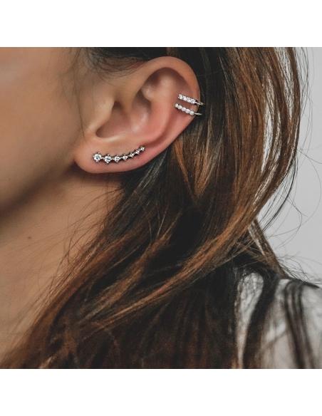 Verfraaide dubbele ear cuff