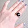Cushion Black Ring