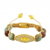 Natural Stone Bracelet With Charm