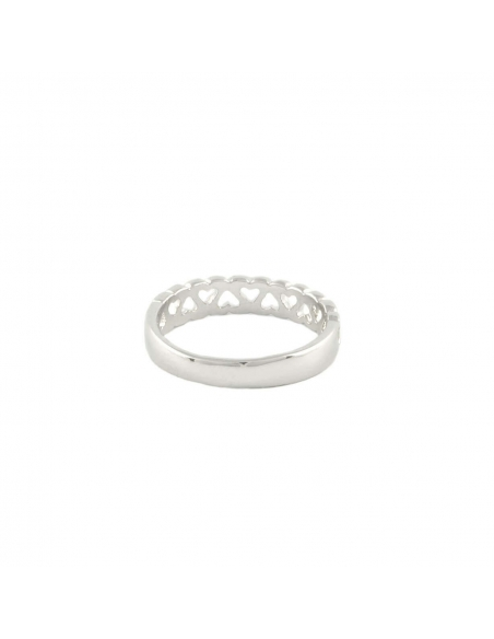 Silver Cut Out Hearts Ring