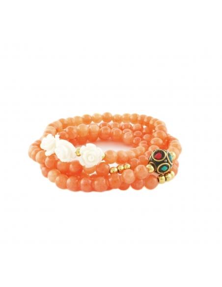 Natural Stone Layered Beaded Bracelet