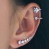 Flower Ear Cuff with Crystal
