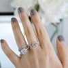 Cushion Square Halo Ring
