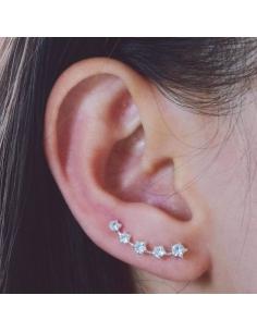 Crystal Stars Ear Pins