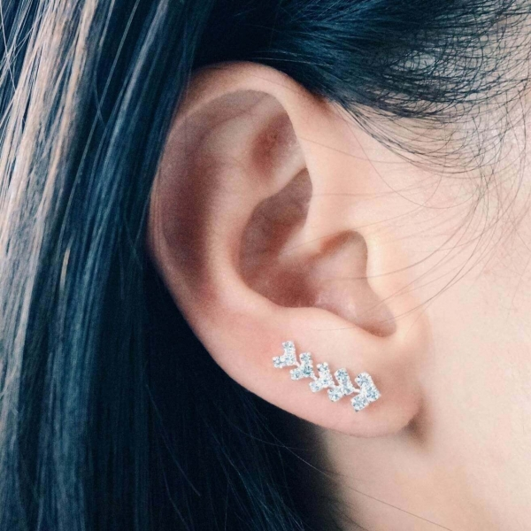 Kristallen Pijltjes Ear Pins